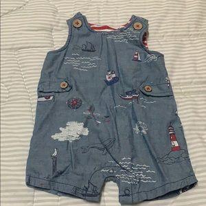 Baby sailor jumpsuit overalls